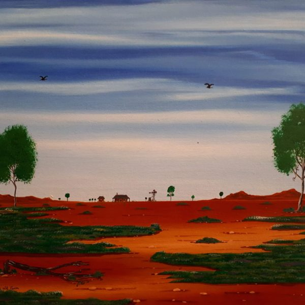 Doug Frith Original Acrylic on canvas board 30cm x 40cm